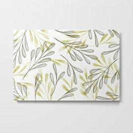 Simple Leaves 5 Metal Print