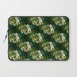 Hills-of-snow hydrangea pattern Laptop Sleeve