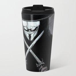 V for Vendetta  (by Esin )5 Travel Mug