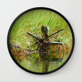 Swamp Chair Wall Clock