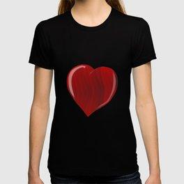 Red Wooden Heart T-shirt