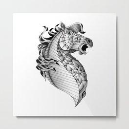 Ornate Horse Metal Print