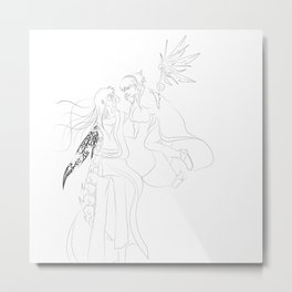 Stellar Linework Metal Print