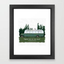 Into The Wild - Magic Bus Framed Art Print