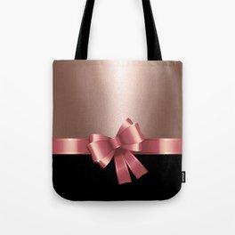 Rose Gold Ribbon Tote Bag