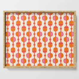 Mid Century Retro Dots Serving Tray