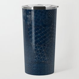 Sashiko - random sampler Travel Mug