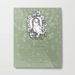 Velveteen Rabbit Wisdom Illustration for Children Metal Print