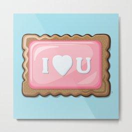 ZA-Cookie: I Love U Metal Print