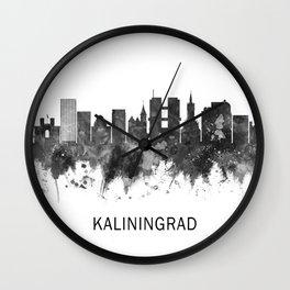 Kaliningrad Russia Skyline BW Wall Clock