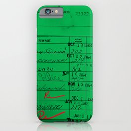 LIbrary Card 23322 Green iPhone Case