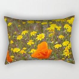 Patches of Gold Rectangular Pillow
