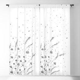 Little Daisies Doodle Art Blackout Curtain