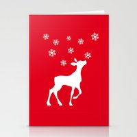 fawn Stationery Cards featuring fawn by Li-Bro
