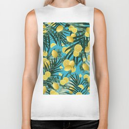 Summer Lemon Twist Jungle #4 #tropical #decor #art #society6 Biker Tank
