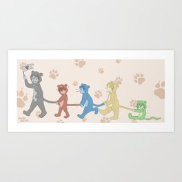 Voltron Kids Art Print