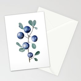 Blackthorn Blue Berries Stationery Cards