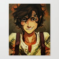 viria Canvas Prints featuring Leo by viria