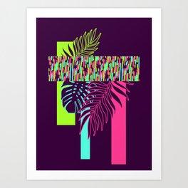 Neon Exotic #society6 #tropical Art Print