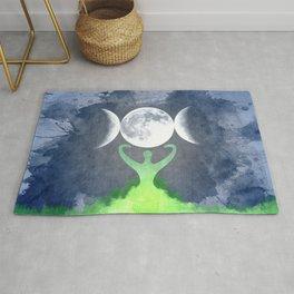 Mother Earth Goddess Moon Rug