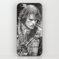 outlander iPhone & iPod Skins featuring James Fraser by ellaine