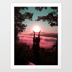Holding the Sun Art Print