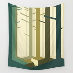 Lonely wolf Wall Tapestry
