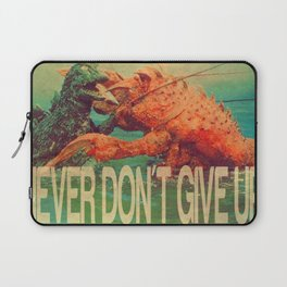 NEVER DON'T GIVE UP! Laptop Sleeve