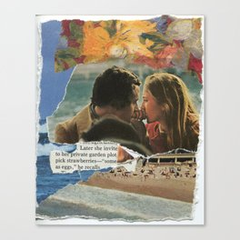 later she invited me Canvas Print