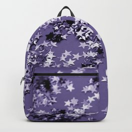 Ultra Violet Glitter Stars #1 #shiny #decor #art #society6 Backpack