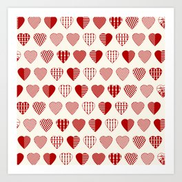 AFE Red Hearts Art Print