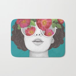 The optimist // rose tinted glasses Bath Mat