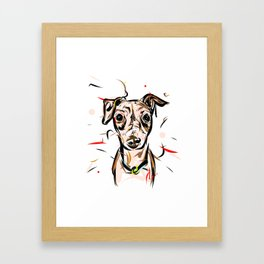 Peach Solomita Framed Art Print