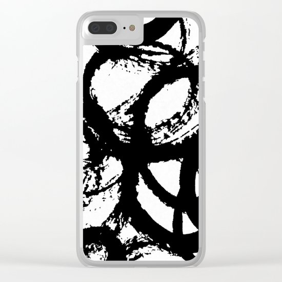 Dance Black and White Clear iPhone Case