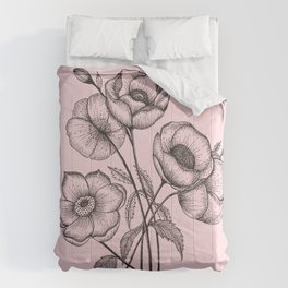 Palid Flowers  Comforters