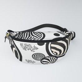 Zebra Circles Fanny Pack