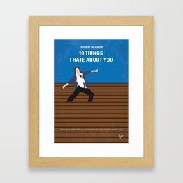 No850 My 10 Things I Hate About You minimal movie poster Framed Art Print