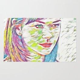 Zeta Jones (Creative Illustration Art) Rug