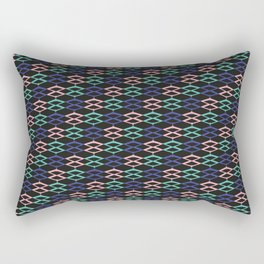Retro Colors / The W Pattern 1 / 80s Rectangular Pillow