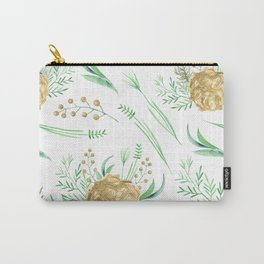 Coral Peach Garden Carry-All Pouch