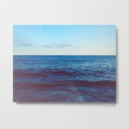 Minimalist Blue Waters Ocean Horizon Landscape Metal Print