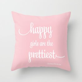 Happy Girls Throw Pillow