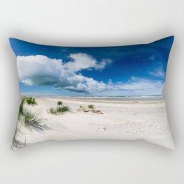 Grenen Beach Panorama Rectangular Pillow