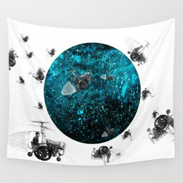 walk in space Wall Tapestry