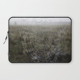 wet spider web Laptop Sleeve
