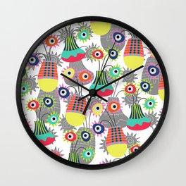 Flower Pots Wall Clock