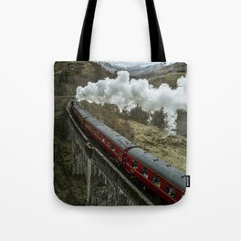 Red Wizard Steam Train In The Scottish Highlands – Landscape Photography Tote Bag