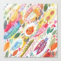 bugs Canvas Prints featuring Bugs by Mia Dunton