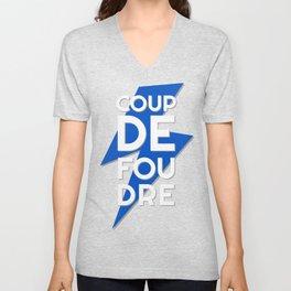 Coup de Foudre / Blue Lightning Unisex V-Neck