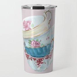 Lean on Me in Pink | Teacup Painting Travel Mug